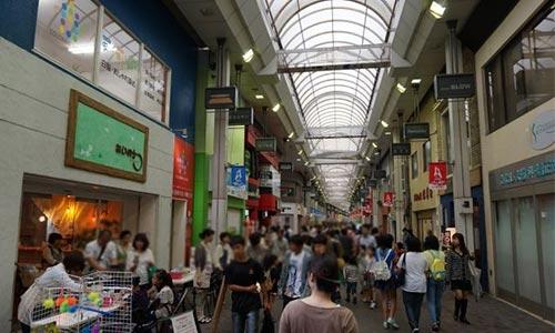 久留米アーケード商店街画像